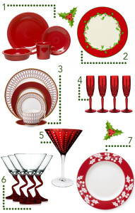The festive table – it has to be red!